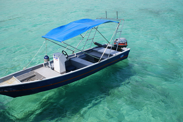 Boat on Tioman Island