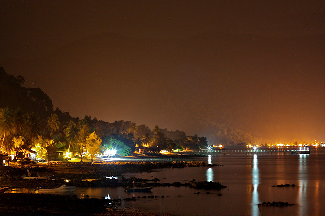 Tioman Island at night.