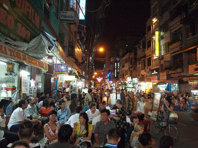 Pham Ngu Lao Street, Ho Chi Minh.