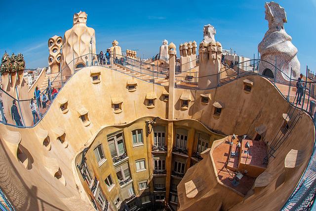 Rooftop of La Padrera, Barcelona