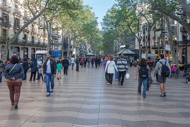 La Ramblas area in Barcelona