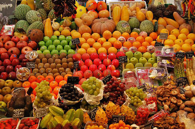Visit Mercat de la Boqueria, one of the most famous food markets in the world