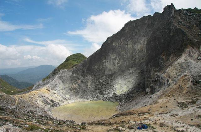 Mount Sibayak at Berastagi.