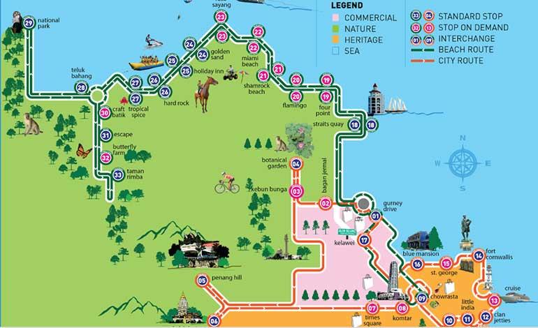 Penang Island Fun Map