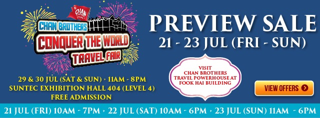 Chan Brothers Wanderlust Fair Preview Sale 2017 - Suntec Exhibition Hall 404