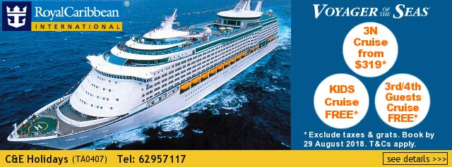 C & E Holidays Royal Caribbean Cruise 2018 Promotion