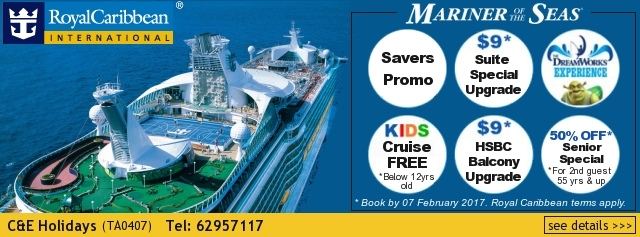 C & E Holidays Royal Caribbean Cruise Mariner of the Seas Promotion
